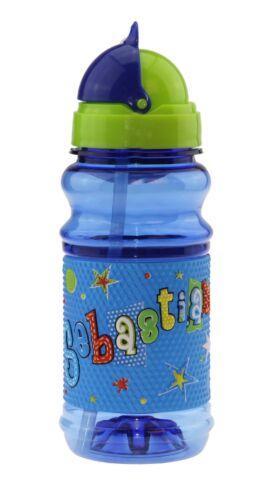 SEBASTIAN - Trinkflasche mit Klappdeckel & pop-out Strohhalm SEBASTIAN von H & H