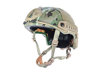 Lvl IIIA ATE® Ballistic Kevlar High Cut HHV Helmet-SOF MICH ACH-3 Multicam M/L