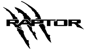 FORD-RAPTOR-LOGO-CLAW-MARKS-DIECUT-SET-OF-LEFT-AND-RIGHT