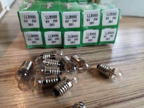 6 Volt 2 Watt MES LAMPADINE X 4 LUCAS