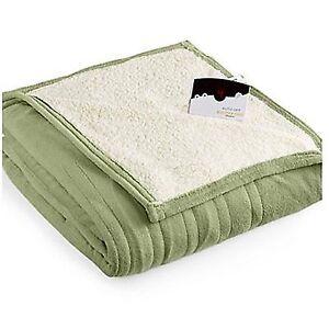 Biddeford Blankets 2060 9052140 633 Microplush Electric Heated Blanket Twin Green