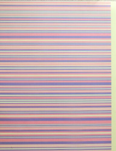 Rosa /& Blau Pergament 112gsm 2 Xa4 Blätter Abstrakt Regenbogen//Candy Streifen