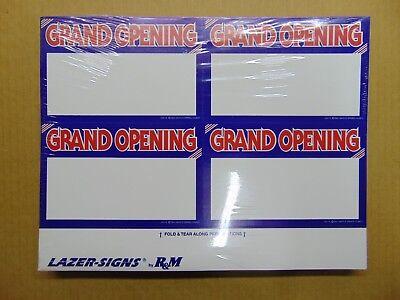 "400 Blank 3.5/"" x 5.5/"" Orange Border Business Retail Sale Sign Cards Printable!"