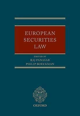 European Securities Law by Oxford University Press (Hardback, 2010)