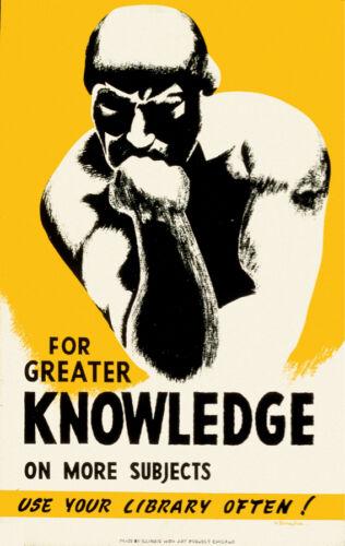 Decor Poster.Graphic Art Design.Thinker.Use library often.Shop Wall Art.1703