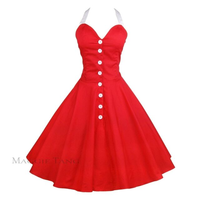 Maggie Tang 50s 60s Swing Polka dot Dress Pinup Vintage Rockabilly Retro TT525