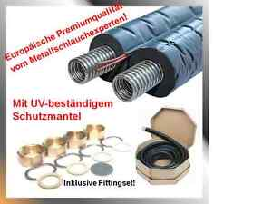 Solarleitung-Solarrohr-Doppelrohr-Edelstahlwellrohr-DN25x15m-Isolierung14mm