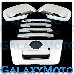 Chrome-Mirror-4-Door-Handle-FULL-Tailgate-Cover-for-05-12-Nissan-Frontier