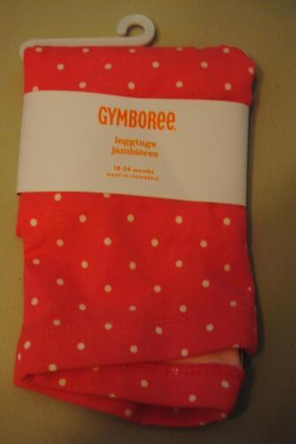Gymboree Prep Perfect Leggings Pink w//White Polka Dots12-18-24 Mos 3T NEW