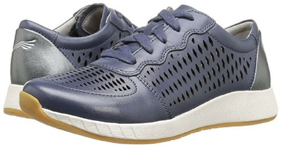 New Leder Dansko Damens's Charlie Blau Leder New Fashion Sneakers Schuhes EU 36 / US 5.5 -6 8abd1c