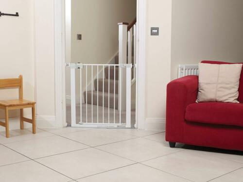 White Safety 1st Secure.. Simply Close suitable for Kids Baby Safety Metal Gate