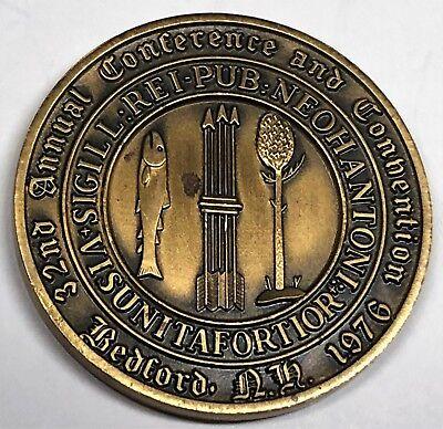 # 6166c Newengland Numismic Assoc. Bronze Medal, Bedford, N.h. 1970