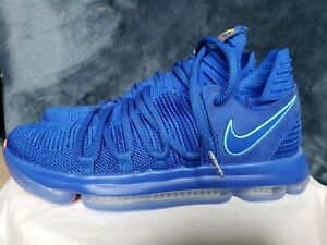 release date: 57f08 ab3db Details about Nike Zoom KD 10 KDX Basketball Shoes Blue