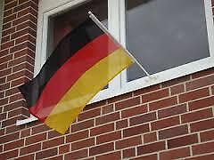 Fenster Fahnenhalter Fahne Deutschland Italien Griechenland Russland Polen