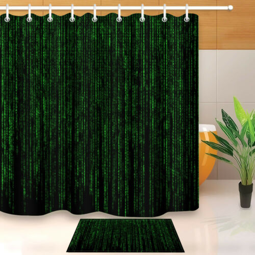 LB Computer Programming Code Waterproof Fabric Shower Curtain Liner /& 12 Hooks