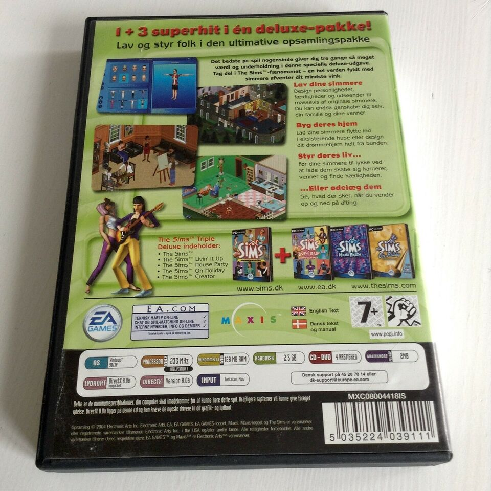 The Sims Triple Deluxe, til pc, simulation