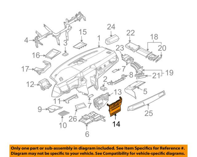 bmw oem 08-10 550i instrument panel dash-center bezel trim 51456976361