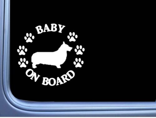 "Baby on Board Corgi L502 6/"" Sticker dog decal"