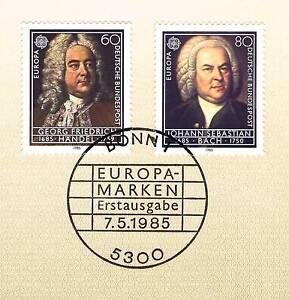 Marque De Tendance Rfa 1985: Bach Et Haendel! L'europe Marques Nº 1248+1249 Avec Cachet De Bonn! 156-afficher Le Titre D'origine Couleurs Fantaisie