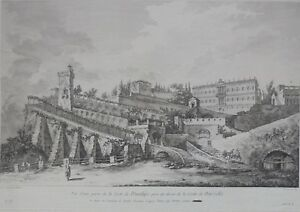 Gravure-XVIIIe-Naples-Hubert-Robert-Saint-Non-Etching-18th-Incisione-Napoli