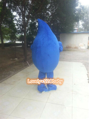 Water Drop Mascot Costume Suit Parade Fancy Dress Adults Cosplay EMS Shipping