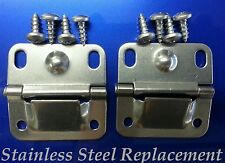 Coleman Cooler Ice Chest Stainless Steel Replacement Lid Hinges 6155-5741