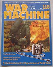 War Machine magazine Issue 118 Flamethrowers of World War II