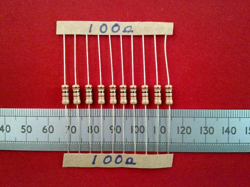 10 Pcs 0,5 W 5% de carbono resistencias de película, 100r a 8k2