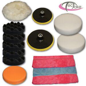 Conjunto Set de 14 piezas de esponjas para pulir máquina de pulir limpieza NUEVO