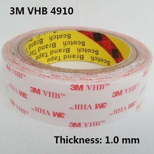 3m Vhb 4910 Clear Double Sided Acrylic Foam Tape
