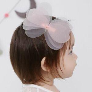Yarn-Baby-Cute-Cartoon-Gauze-Net-Bowknot-Hairpin-Hair-Accessories-Hair-Clip