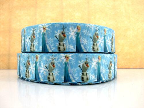 Noeuds Bandeaux Gâteau cheveux OLAF taille 1 in 2 mètre Nouveau Frozen Ribbon Elsa environ 2.54 cm