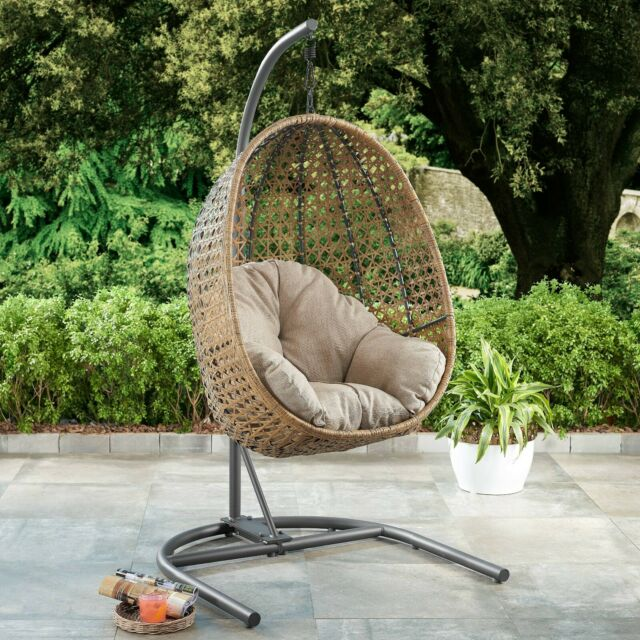 Chair Wicker Swing Basket Ball Shaped