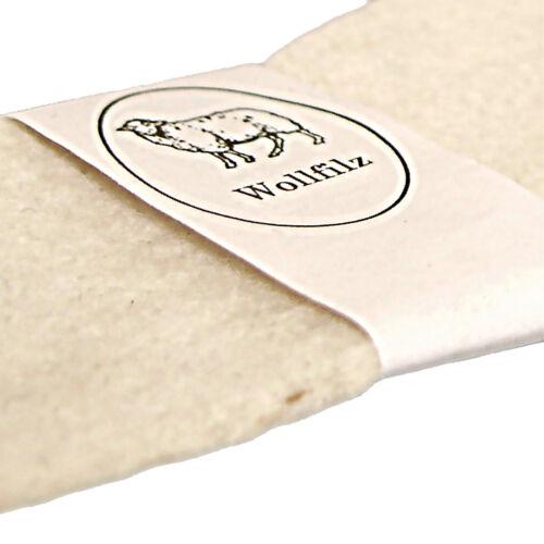 BRUBAKER Filz Einlegesohlen Wollfilz Sohlen 4 mm Komfortdicke Naturweiß Gr 35-50