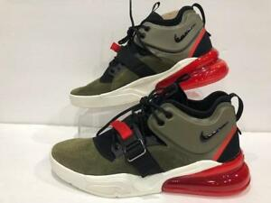 51b46a48e3 Nike Air Force 270 Medium Olive Green Black Red White AH6772-200 | eBay