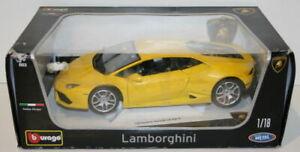 Burago-1-18-escala-Diecast-18-11038-Lamborghini-Huracan-Lp-610-4-Amarillo