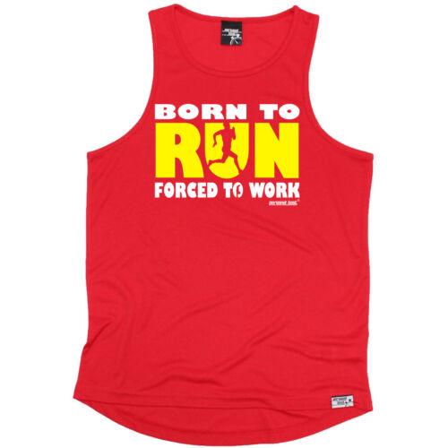Running Vest Funny Mens Sports Performance Singlet Born To Run