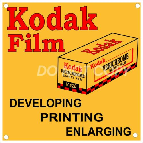 Vintage NEW Reproduction Kodak Verichrome Safety V620 Film Aluminum Sign 12x12