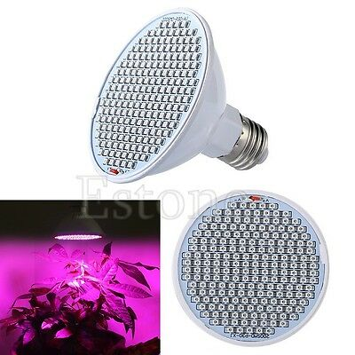 24W 200 SMD LED E27 Hydroponic Plant Grow Light Bulb Lamp Growth Indoor