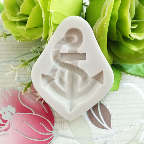New Sailboat Anchor Seagull Silicone Mold Fondant Mould Cake Kitchen Gadgets