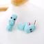 Hipopotamo-Dulce-Pendientes-Animal-en-Oreja-Ninos-Azul miniatura 3
