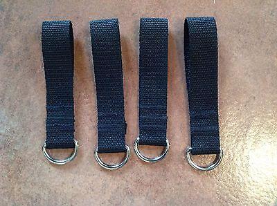 Metal D Ring Belt Loop Key Fob Security 25mm Webbing