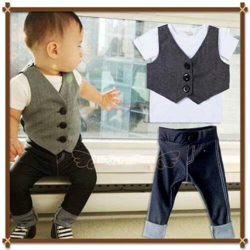 3 piece suite toddler child Outfit Wedding Birthday Party Set
