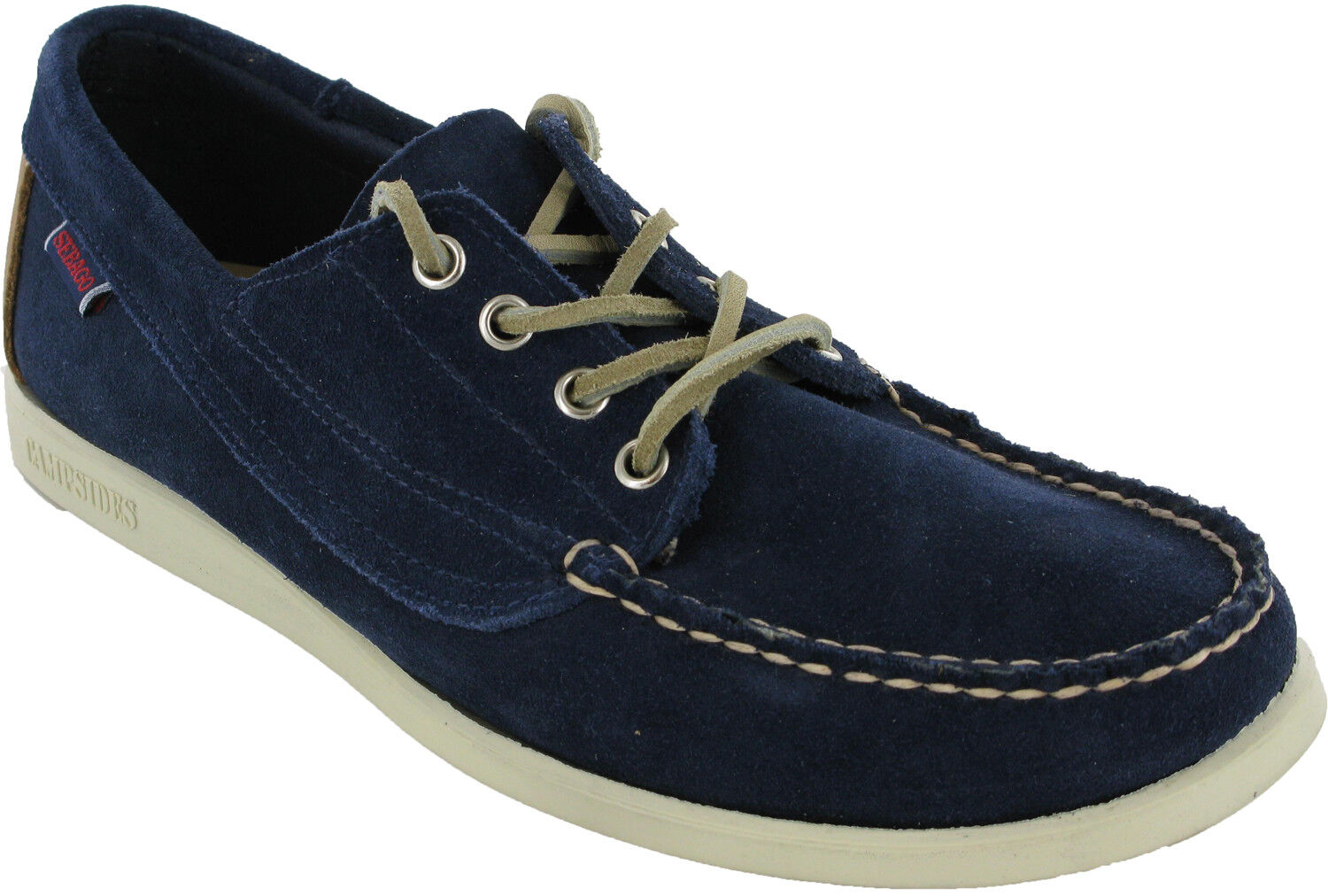 Sebago Campsides Navy Lace Up  Schuhes Herren Suede Casual Formal Loafer Schuhes  UK8.5 - 9 d5fde8