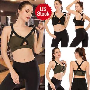 Women Lady X-Type Bra Fitness Underwear Yoga Sports #@ Shockproof