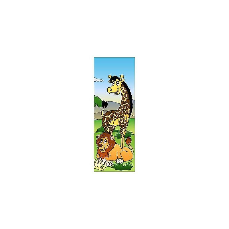 Adhesivo niño Jirafa para puerta plana o de parot ref 705