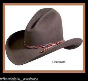 a6de09a9ecb4e Image is loading BROWN-Felt-GUS-HAT-4X-Quality-Rodeo-King-