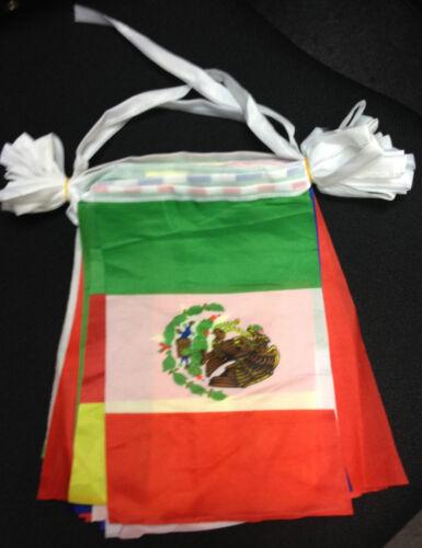 10m International Fabric Flag Bunting 32 Nations each flag 30cm x20cm Events