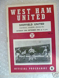 1962-WEST-HAM-UNITED-v-SHEFFIELD-UNITED-29th-Sept-League-Division-One