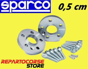 DISTANZIALI-SPARCO-5mm-CON-BULLONI-FIAT-500-ABARTH